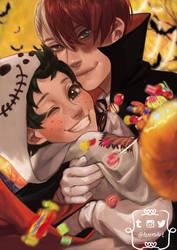 Boku no Hero academia - Tododeku Halloween by DeerAzeen