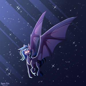 flying batpon (art practice)