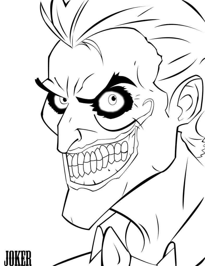 Line Art Joker : Joker line art by namelessninja on deviantart