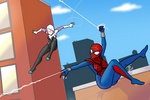 Spider-girl and Spider-Gwen web swing!