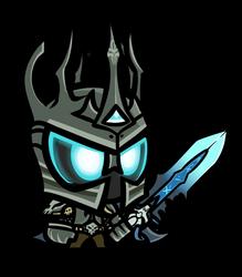 Realm Raiders lich king chibi (sentry knight) by Jonerico