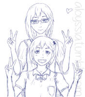Kiyoko and Yachi by Aloyssiah