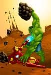 Hulk vs. Iron Man Coloured