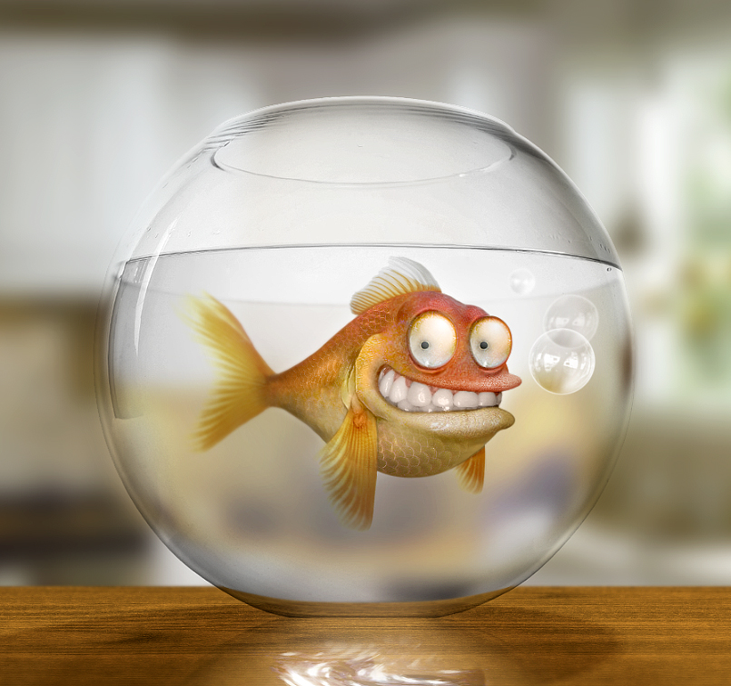 Klaus the German Goldfish by thejagman22