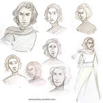 Kylo Ren Sketches