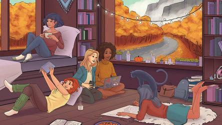 Fall Sleepover by aimeezhou