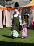 Medieval Woman and Child by RayvenStock
