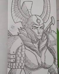 Legion Commander by HorusOniArts