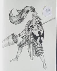 Solitary Knight by HorusOniArts