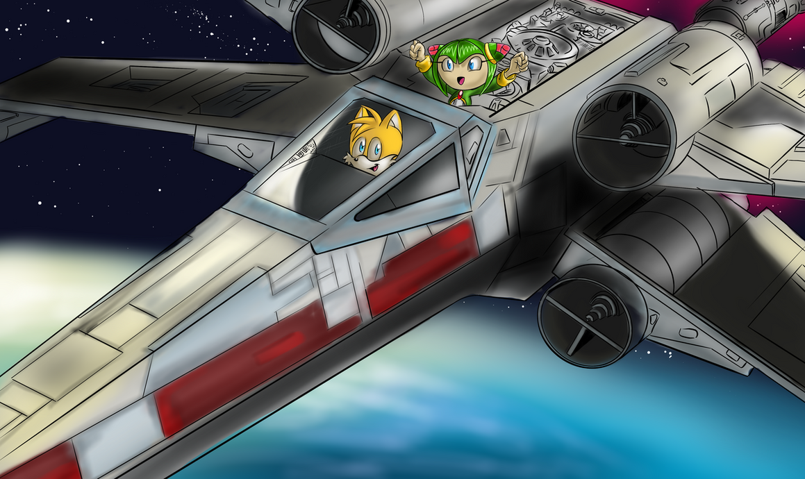 X-Wing Ride by ForkTailedDevil