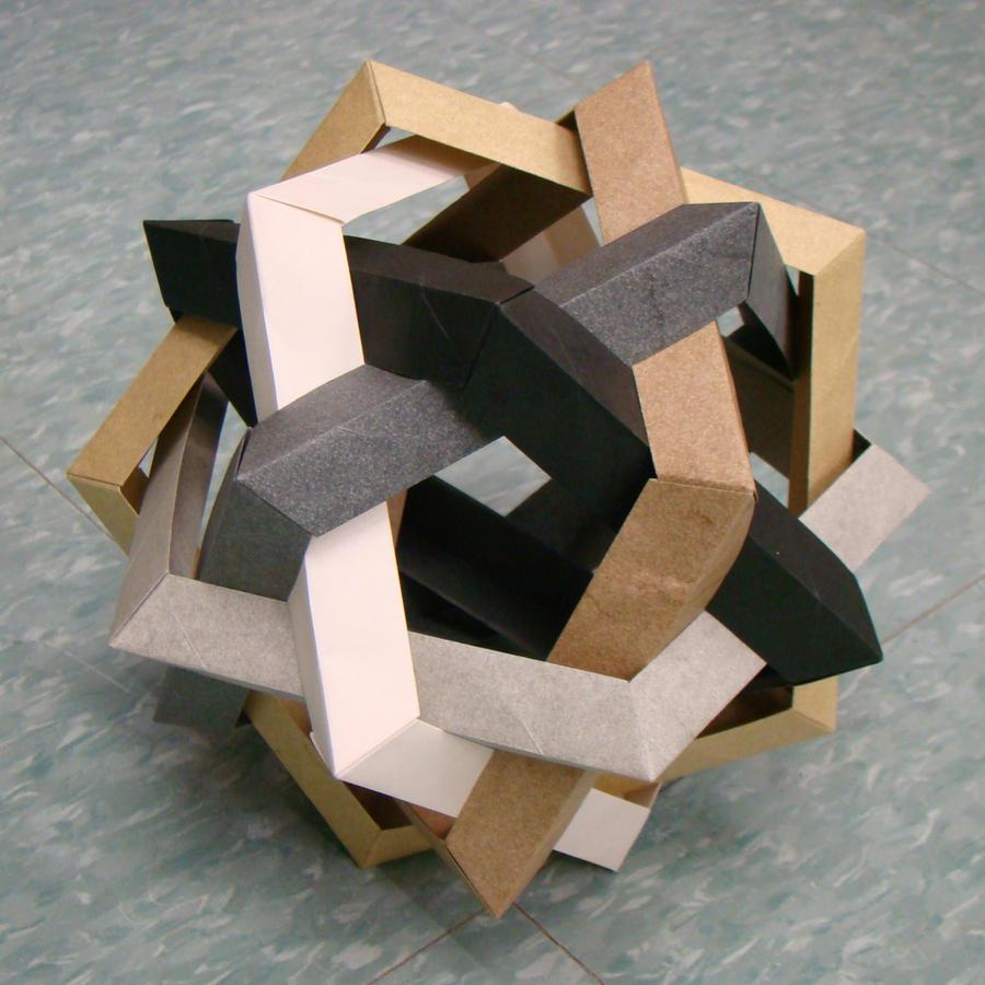Makalu / Six Interlocking Pentagonal Rings by manilafolder