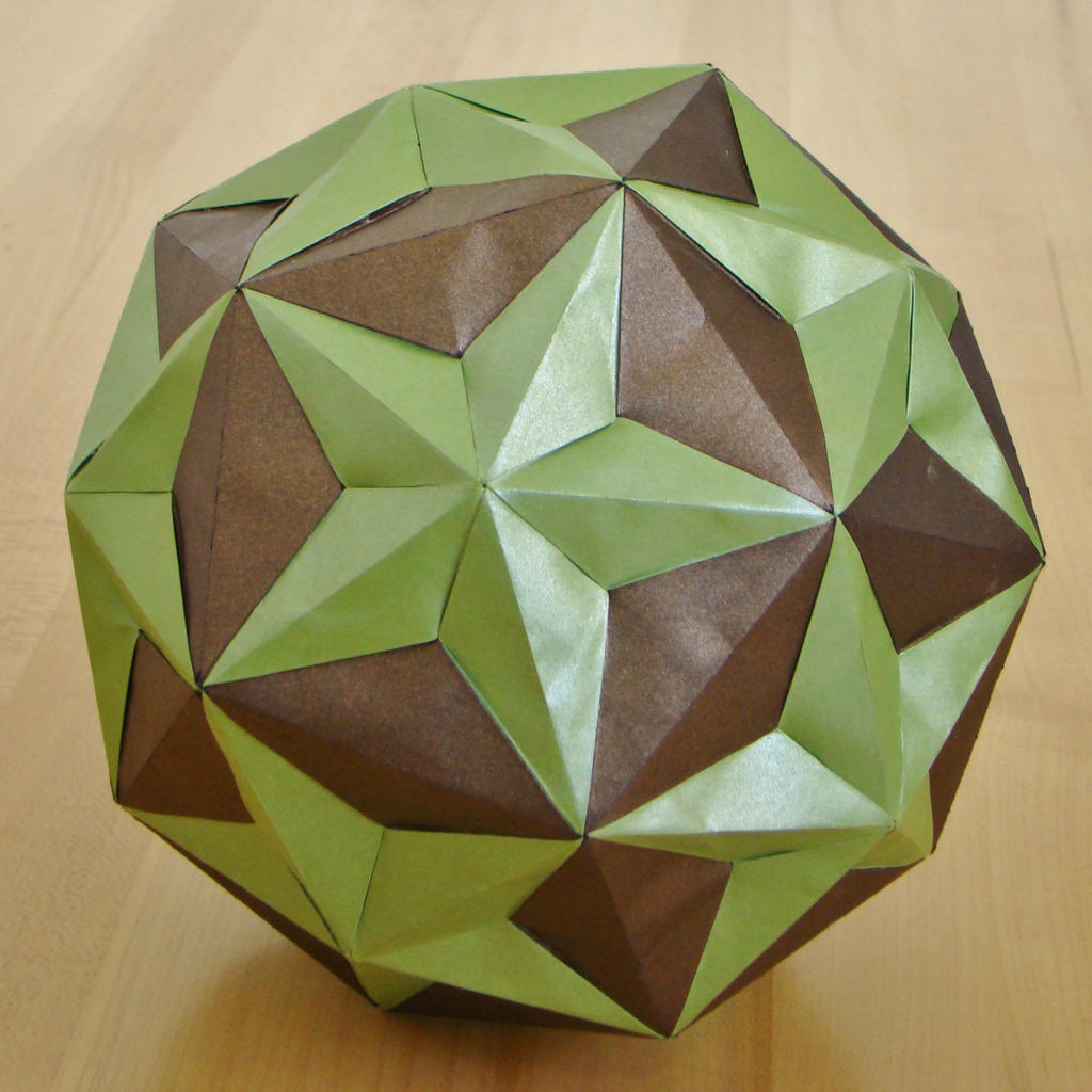 dodecahedronsmall triambic icosahedron compound by