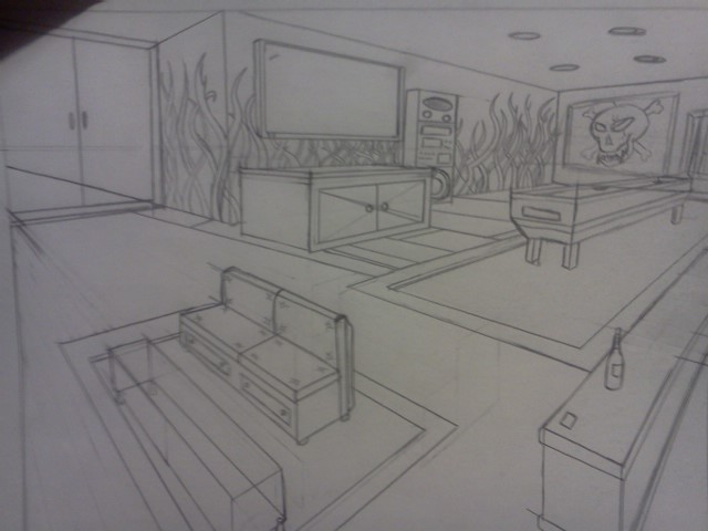 2 point perspective room by jpaulsondesign on deviantart for Living room 2 point perspective