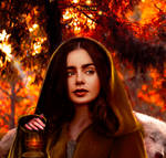lily collins/little red riding hood