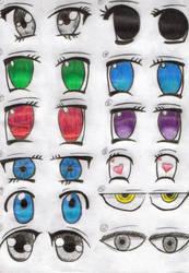 Anime Eyes by SwiftlakerREBORN