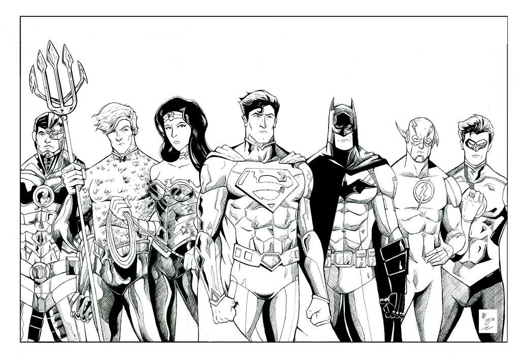 Pics For Gt Justice League Batman Coloring Pages