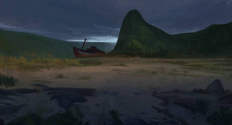 Broken ship by Leonardconcept