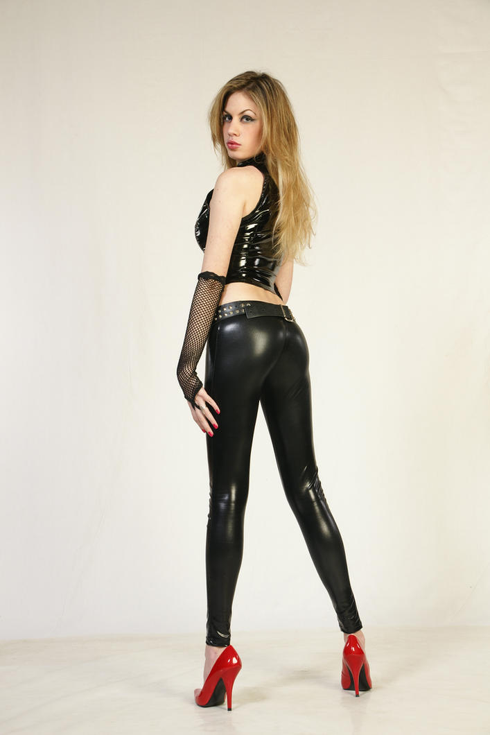 Girl in latex-back side by CrowsReign-Stock