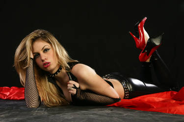Black Latex-Red High Heels II by CrowsReign-Stock