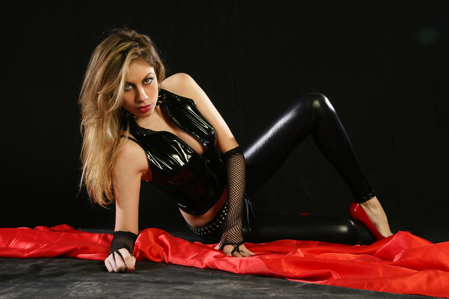 Black Latex-Red High Heels III by CrowsReign-Stock