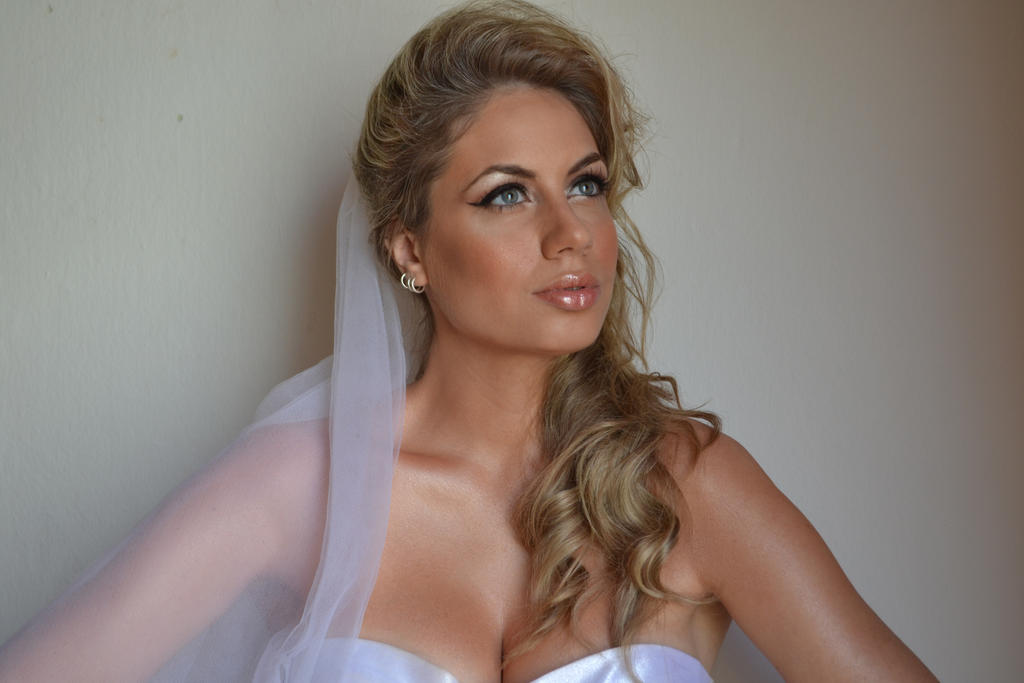 Bride Portrait Stock III by CrowsReign-Stock