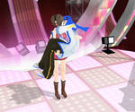 MMD Meiko kissing Kaito in her stage (Change Me)