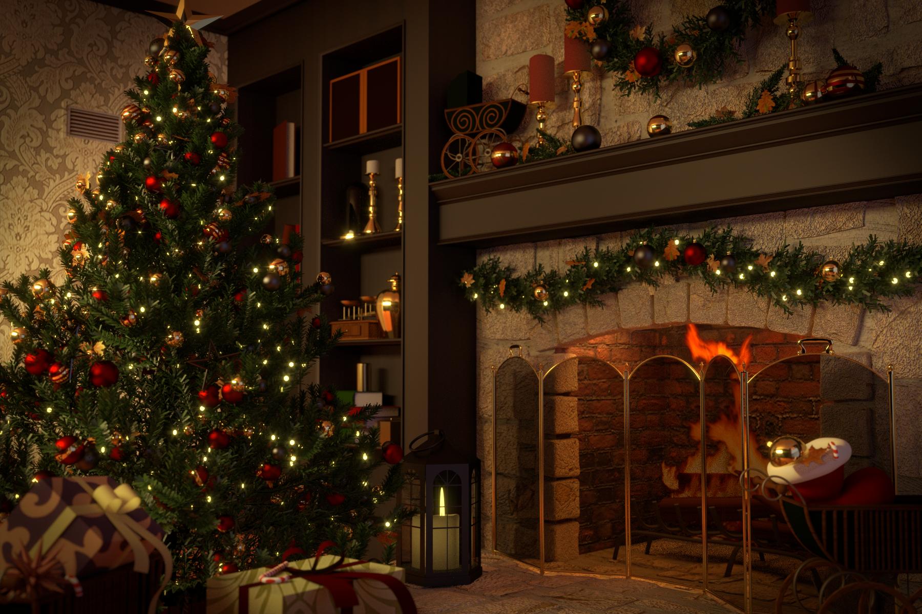 Christmas Scene By Falksen On DeviantArt