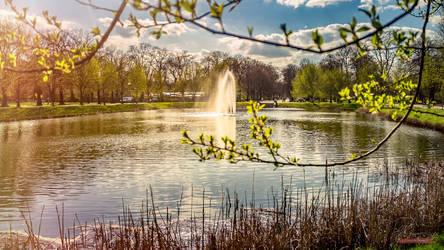 Clarapark Leipzig Spring by Falksen