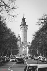 Rathaus Leipzig 2016 BW by Falksen