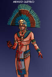 Aztec colored by Riccardo80