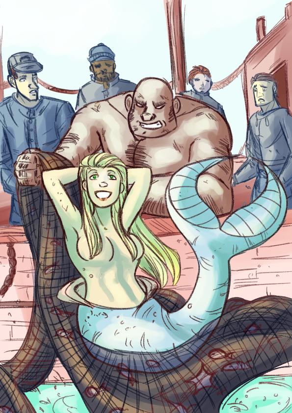 Mermaid and sailors by Riccardo80