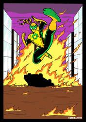 Drak Beryl   into the fire