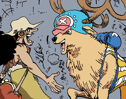 Usopp and Chopper Coloring by BURNiNATOR326