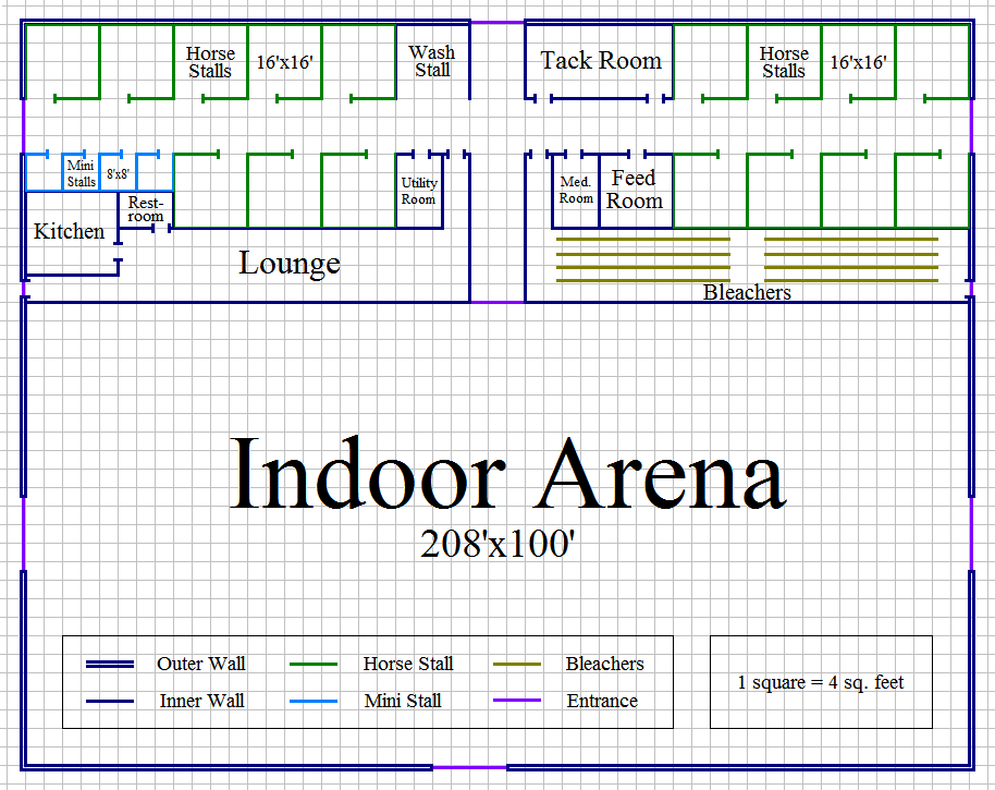 Stall Arena Horse Barn Design Plan  Awesome Idea To Combine