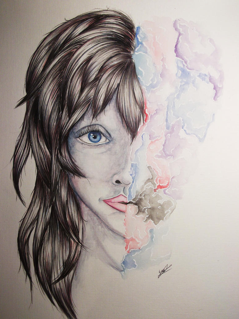 White Line Heart by EmilyRose481