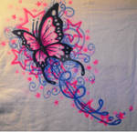 Butterfly Stars- Airbrush