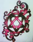 Heartagram Tattoo design