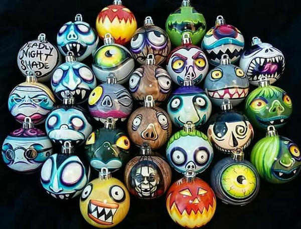 Hand Painted Nightmare Before Christmas Ornaments By