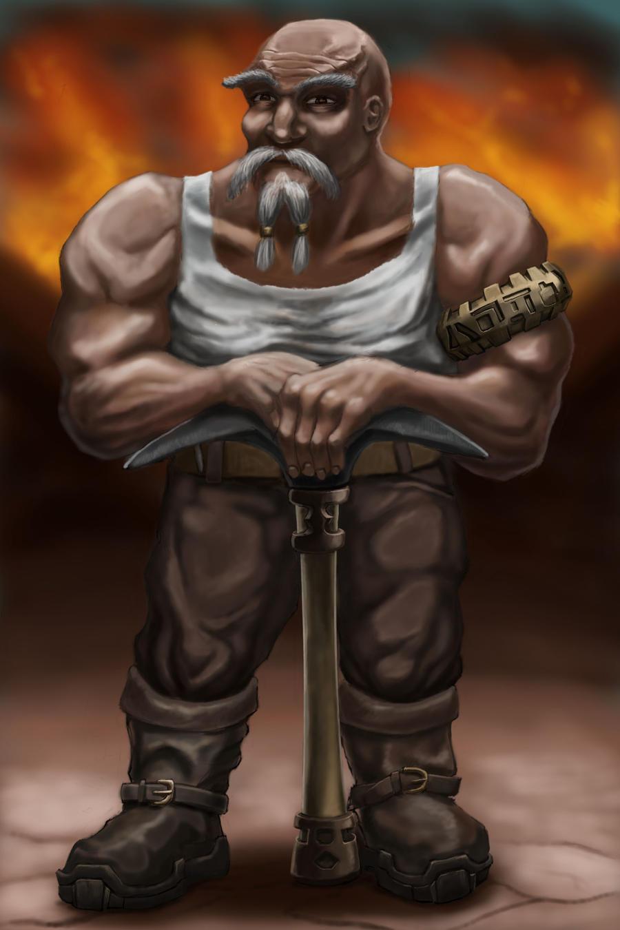 Dwarven Miner by grimdrifter
