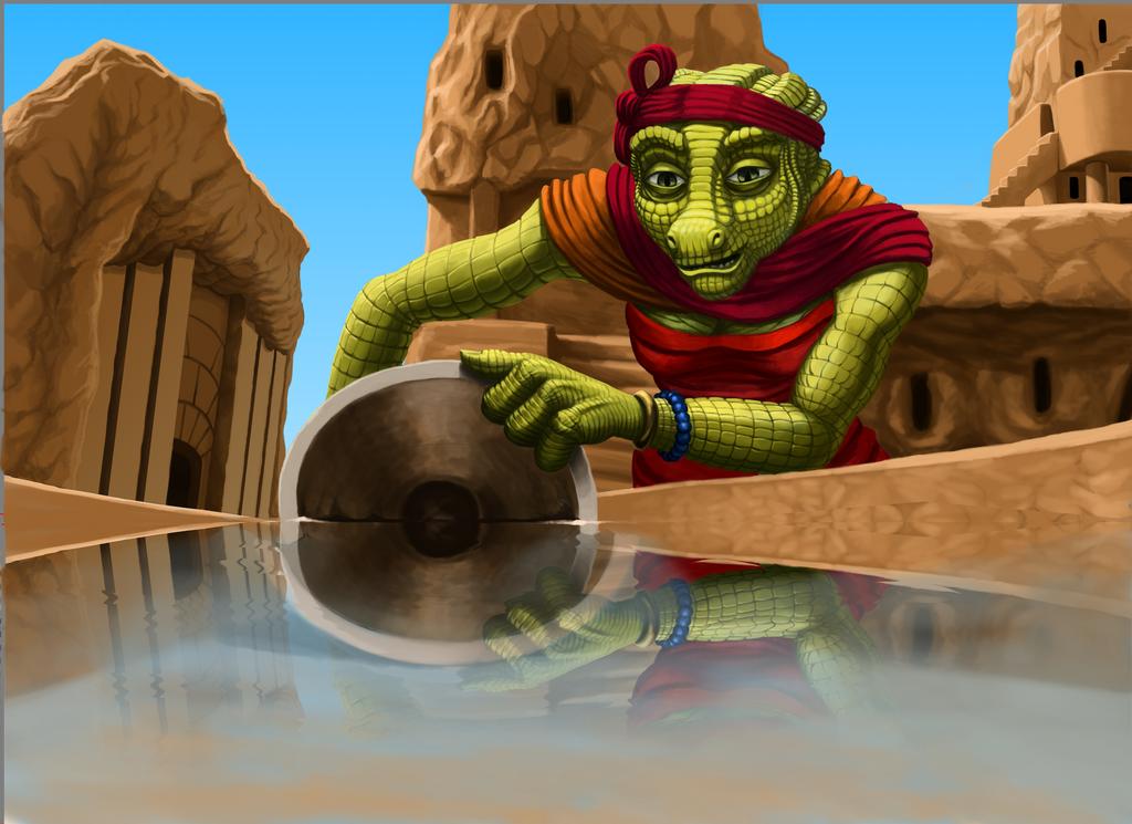 Mer gets water by grimdrifter