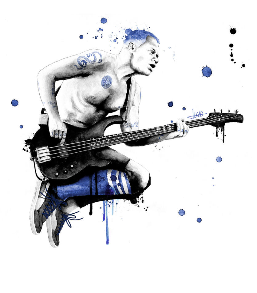 Blue Bassist Balzary by Bulletproof-Eggs