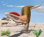 Dilophosaurus Stalking Collab by LWPaleoArt