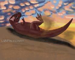 Tyrannosaurus Dinovember doodle