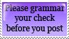 Grammar your check