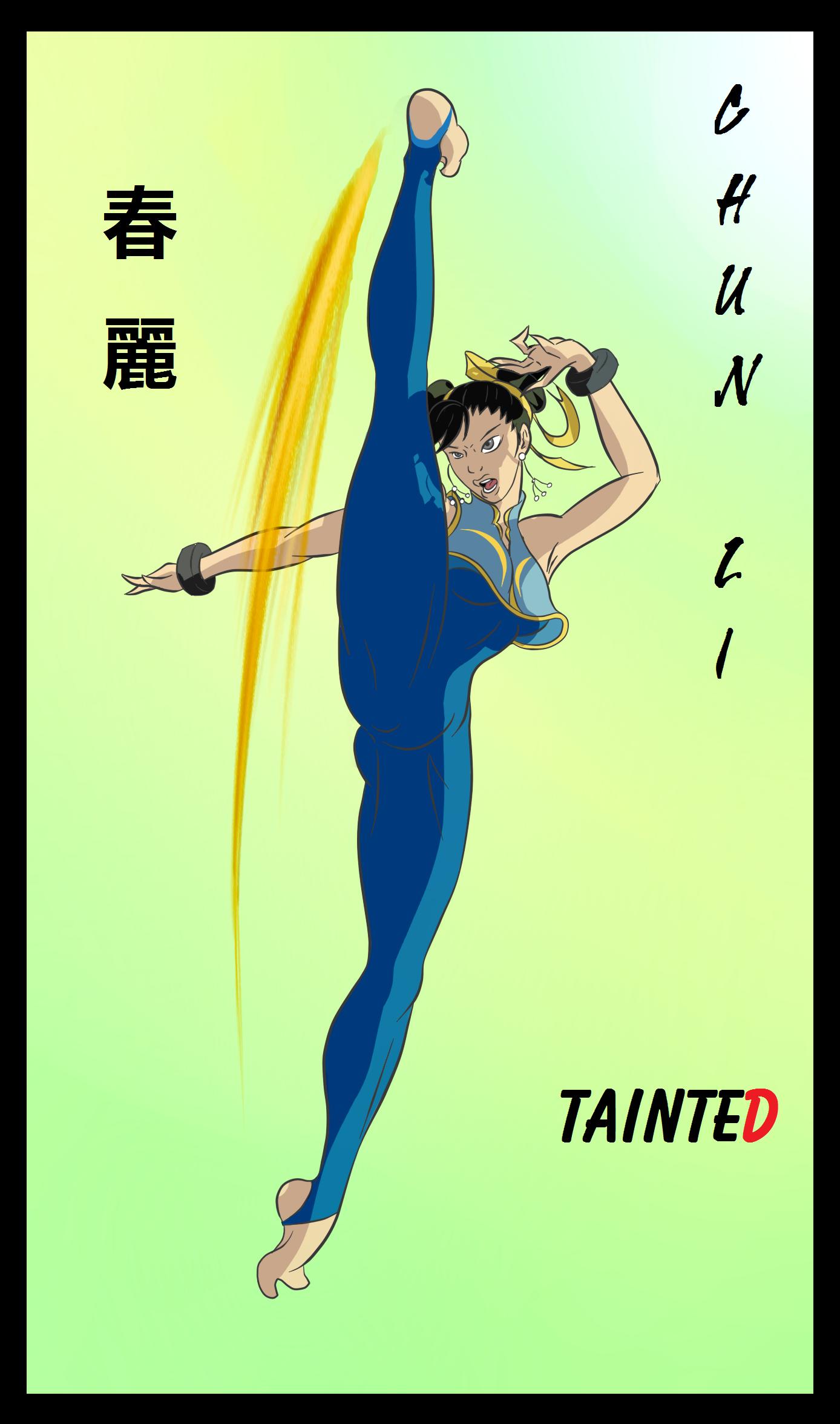 Chun Li Alpha Rage Kick In Progress By Geneforson On Deviantart
