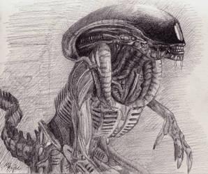 H.R giger Alien drawing