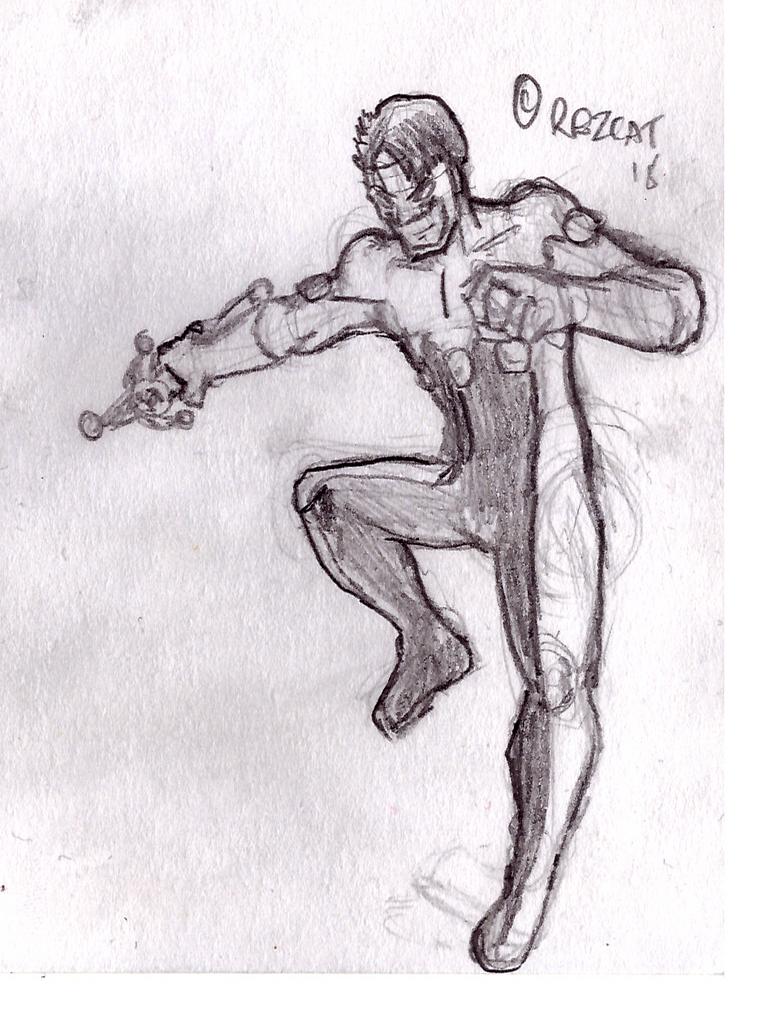 5$ Single Character Sketch #4 - Jester by Speedslide