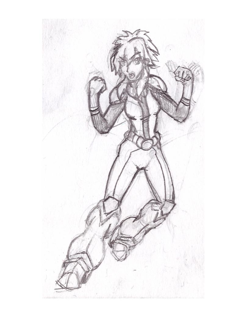 5$ Single Character Sketch #5 - Kiva by Speedslide