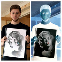 Marilyn Monroe Inverted Drawing by Liam J. York