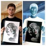 Marilyn Monroe Inverted Drawing by Liam J. York